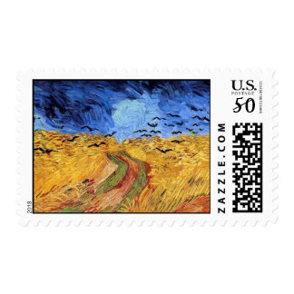 Vincent Van Gogh - Wheat Field with Black Crows Postage