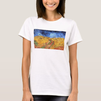 Vincent Van Gogh - Wheat Field with Black Crows T-Shirt