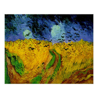 Vincent Van Gogh Wheat Field with Crows Poster