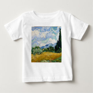 Vincent Van Gogh Wheat Field with Cypresses Art Baby T-Shirt