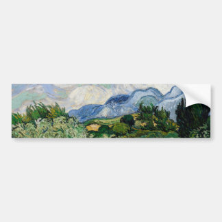 Vincent Van Gogh Wheat Field With Cypresses Bumper Sticker