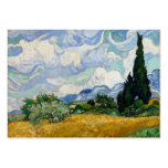 Vincent Van Gogh Wheat Field With Cypresses Business Card Templates