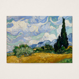 Vincent Van Gogh Wheat Field With Cypresses Business Card