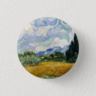 Vincent Van Gogh Wheat Field With Cypresses Button