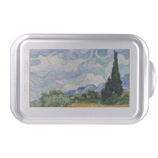 Vincent Van Gogh Wheat Field With Cypresses Cake Pan