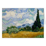 Vincent Van Gogh Wheat Field With Cypresses Card