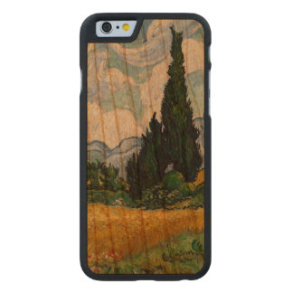 Vincent Van Gogh Wheat Field With Cypresses Carved® Cherry iPhone 6 Case