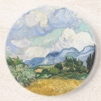 Vincent Van Gogh Wheat Field With Cypresses Coaster