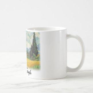 Vincent Van Gogh - Wheat Field with Cypresses Coffee Mug