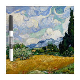 Vincent Van Gogh Wheat Field With Cypresses Dry Erase Whiteboard