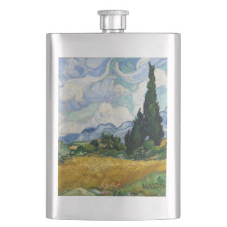Vincent Van Gogh Wheat Field With Cypresses Flask