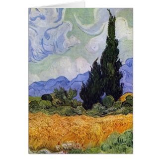 Vincent van Gogh - Wheat Field with Cypresses Greeting Card