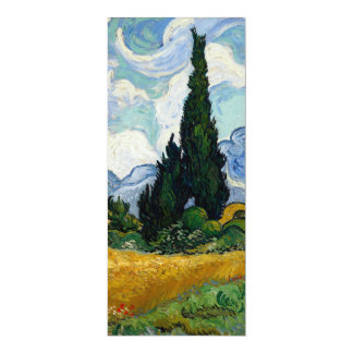 Vincent Van Gogh Wheat Field With Cypresses Personalized Invitation Cards