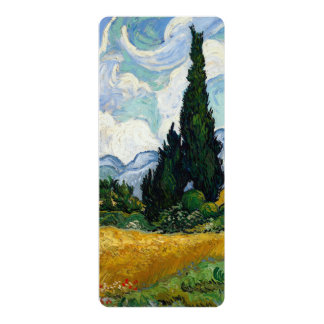 Vincent Van Gogh Wheat Field With Cypresses Custom Invitation