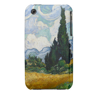 Vincent Van Gogh Wheat Field With Cypresses iPhone 3 Cover