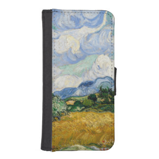 Vincent Van Gogh Wheat Field With Cypresses iPhone 5 Wallet Case