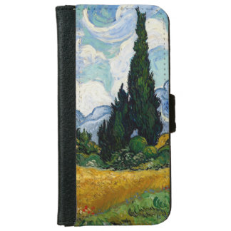 Vincent Van Gogh Wheat Field With Cypresses iPhone 6 Wallet Case