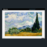 """Vincent Van Gogh Wheat Field With Cypresses Laptop Skin<br><div class=""""desc"""">Vincent Van Gogh Wheat Field With Cypresses Fine Art A Wheatfield with Cypresses (occasionally called A Cornfield with Cypresses) is any of three similar 1889 oil paintings by Vincent van Gogh, as part of his wheat field series. All were executed at the Saint-Paul-de-Mausole mental asylum at Saint-Remy near Arles, France,...</div>"""