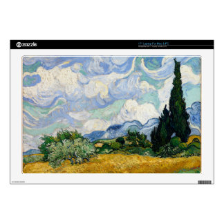 Vincent Van Gogh Wheat Field With Cypresses Laptop Skin