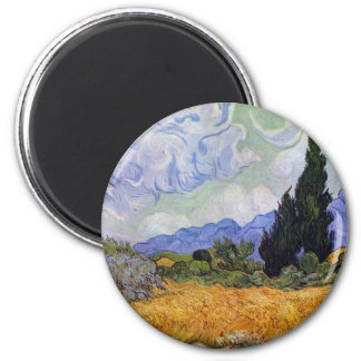 Vincent van Gogh - Wheat Field with Cypresses Magnets