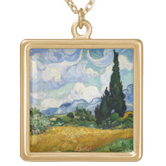 Vincent Van Gogh Wheat Field With Cypresses Custom Jewelry