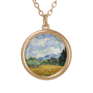 Vincent Van Gogh Wheat Field With Cypresses Personalized Necklace