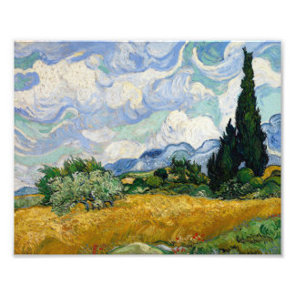 Vincent Van Gogh Wheat Field With Cypresses Photo Print