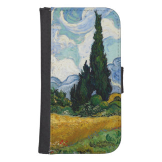 Vincent Van Gogh Wheat Field With Cypresses Galaxy S4 Wallets
