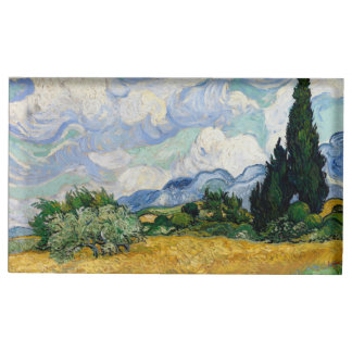 Vincent Van Gogh Wheat Field With Cypresses Place Card Holder