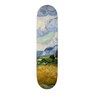 Vincent Van Gogh Wheat Field With Cypresses Skateboard