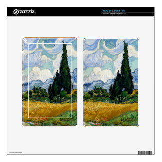 Vincent Van Gogh Wheat Field With Cypresses Skins For Kindle Fire