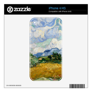 Vincent Van Gogh Wheat Field With Cypresses Skins For The iPhone 4S