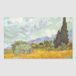 Vincent Van Gogh -  Wheat Field with Cypresses Sticker