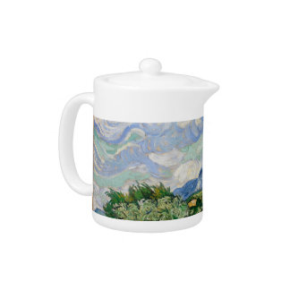 Vincent Van Gogh Wheat Field With Cypresses Teapot