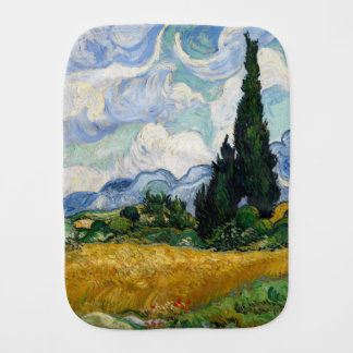 Vincent Van Gogh Wheat Field With Cypresses Baby Burp Cloths