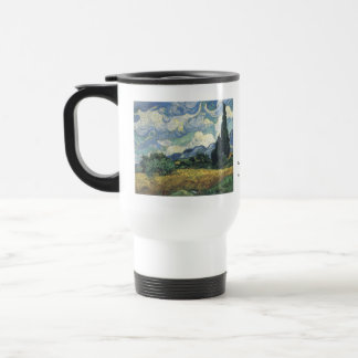 Vincent van Gogh Wheat Fields With Cypresses Travel Mug