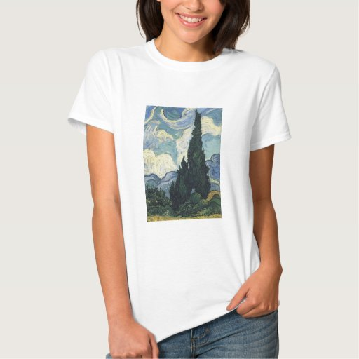 Vincent van Gogh Wheat Fields With Cypresses Tshirt