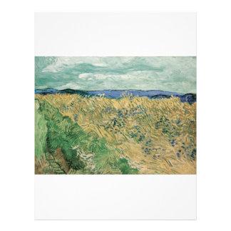 Vincent van Gogh - Wheatfield con Cornflowers Tarjetones