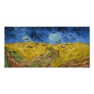 Vincent van Gogh - Wheatfield con los cuervos Fotografias