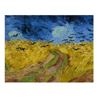 Vincent van Gogh - Wheatfield con los cuervos Postales
