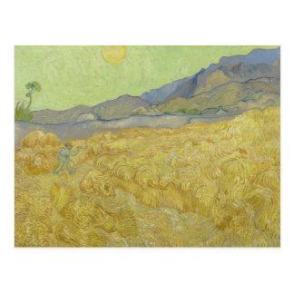 Vincent van Gogh - Wheatfield con un segador Postal