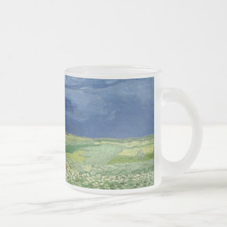 Vincent van Gogh - Wheatfield under thunderclouds 10 Oz Frosted Glass Coffee Mug