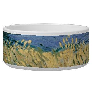Vincent Van Gogh - Wheatfield With Cornflowers Pet Food Bowls