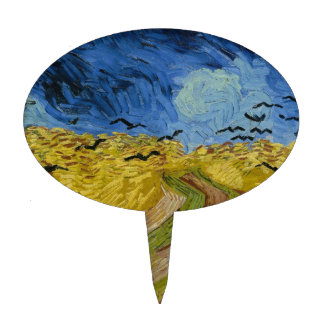 Vincent van Gogh - Wheatfield with crows Cake Topper