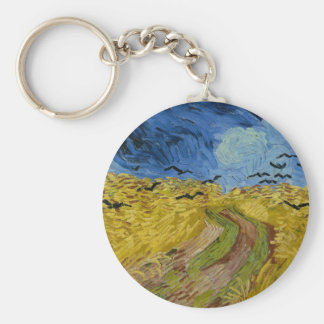 Vincent van Gogh - Wheatfield with crows Key Chain