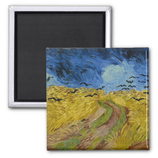 Vincent van Gogh wheatfield with crows Magnet
