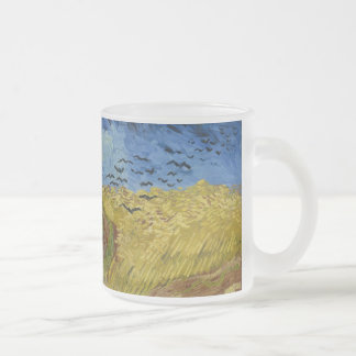 Vincent van Gogh - Wheatfield with crows 10 Oz Frosted Glass Coffee Mug