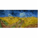 """Vincent van Gogh - Wheatfield with crows Statuette<br><div class=""""desc"""">Wheatfield with crows by Vincent Van Gogh,  1890. Famous painting by Van Gogh on top quality prints,  canvas prints and other amazing gifts.</div>"""