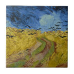 Vincent van Gogh - Wheatfield with crows Small Square Tile