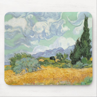 Vincent van Gogh | Wheatfield with Cypresses, 1889 Mouse Pad